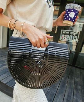 CG004 Bamboo Clutch Large