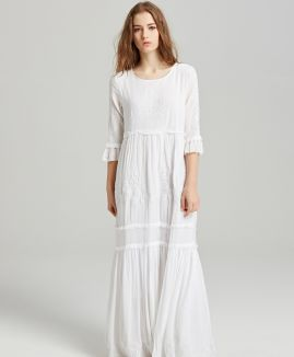 WD009 Maxi White Dress Cotton